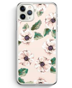 iPhone 11 Pro Max Hardcase Hülle - Rosa Blumen Muster