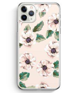 iPhone 11 Pro Max Hardcase Hülle - Rosa Blumen Muster