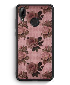 Huawei Y7 (2019) Silikon Hülle - Rosen Muster Vintage