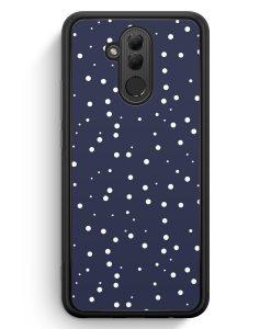 Huawei Mate 20 Lite Silikon Hülle - Weiße Punkte Muster