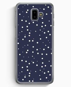 Samsung Galaxy J6+ Plus (2018) Hardcase Hülle - Weiße Punkte Muster