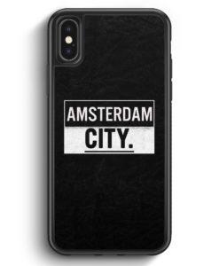 iPhone X & iPhone XS Silikon Hülle - Amsterdam CITY