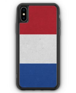 iPhone XS Max Silikon Hülle - Holland Niederlande Flagge