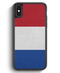 iPhone X & iPhone XS Silikon Hülle - Holland Niederlande Flagge