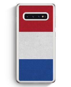 Samsung Galaxy S10+ Plus Hardcase Hülle - Holland Niederlande Flagge