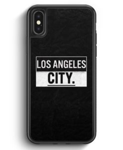 iPhone X & iPhone XS Silikon Hülle - Los Angeles CITY
