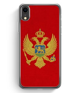 iPhone XR Hardcase Hülle - Montenegro Flagge
