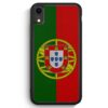 iPhone XR Silikon Hülle - Portugal Flagge Neu
