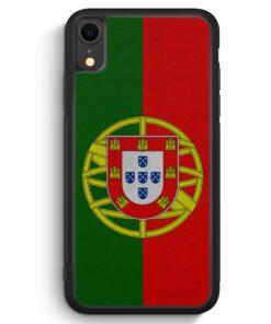 iPhone XR Silikon Hülle - Portugal Flagge Neu
