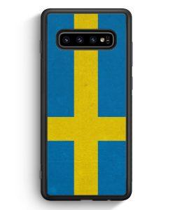 Samsung Galaxy S10e Silikon Hülle - Schweden Flagge