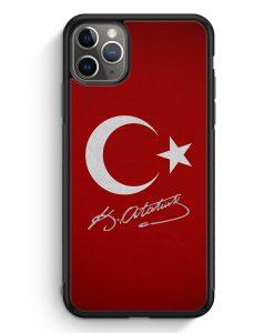 iPhone 11 Pro Max Silikon Hülle - Türkei + Atatürk
