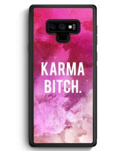 Samsung Galaxy Note 9 Hülle Silikon - Karma Bitch Pink