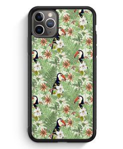 iPhone 11 Pro Max Silikon Hülle - Tukan Muster Tropisch