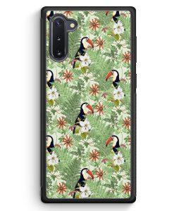 Samsung Galaxy Note 10 Silikon Hülle - Tukan Muster Tropisch