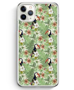 iPhone 11 Pro Max Hardcase Hülle - Tukan Muster Tropisch