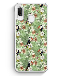 Samsung Galaxy A20e Hardcase Hülle - Tukan Muster Tropisch
