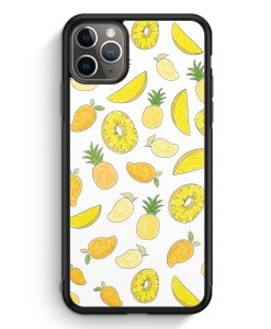 iPhone 11 Pro Max Silikon Hülle - Ananas Birne Muster Tropisch