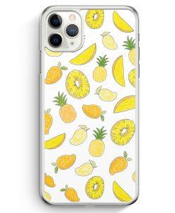 iPhone 11 Pro Hardcase Hülle - Ananas Birne Muster Tropisch