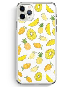 iPhone 11 Pro Max Hardcase Hülle - Ananas Birne Muster Tropisch