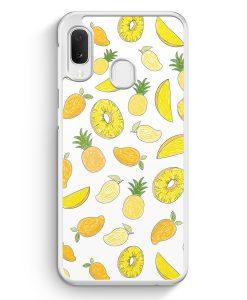 Samsung Galaxy A20e Hardcase Hülle - Ananas Birne Muster Tropisch