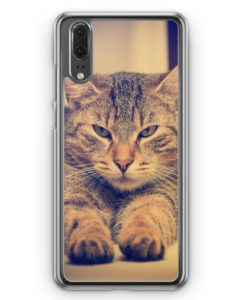 Huawei P20 Hülle Hardcase - Angry Cat Foto