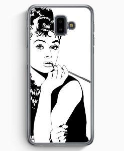 Samsung Galaxy J6+ Plus (2018) Hardcase Hülle - Audrey Hepburn Vintage