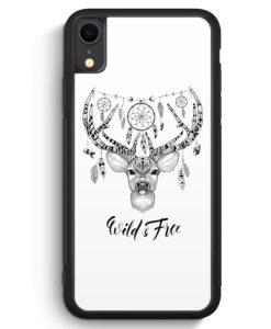 iPhone XR Silikon Hülle - Wild & Free Aztek Hirsch