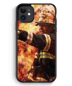 iPhone 11 Silikon Hülle - Feuerwehr Foto