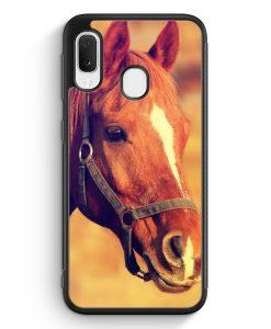 Samsung Galaxy A20e Silikon Hülle - Pferd Foto