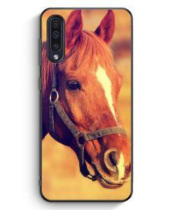 Samsung Galaxy A50 Silikon Hülle - Pferd Foto