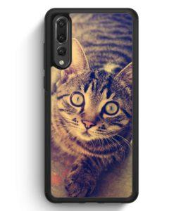 Huawei P20 Pro Hülle Silikon - Schockierte Katze Foto