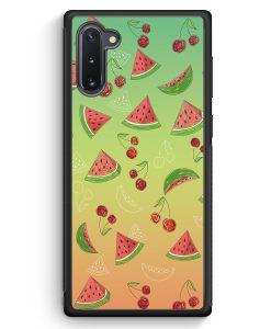 Samsung Galaxy Note 10 Silikon Hülle - Wassermelonen Kirsche Muster