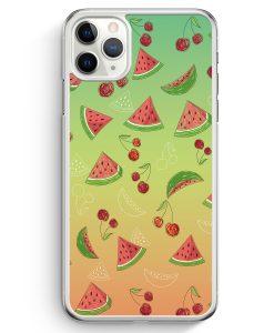 iPhone 11 Pro Hardcase Hülle - Wassermelonen Kirsche Muster