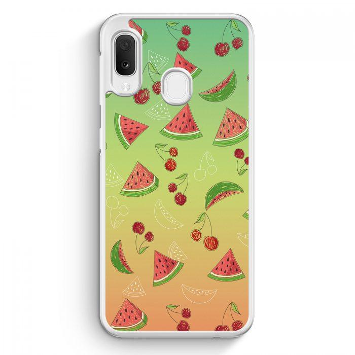 Samsung Galaxy A20e Hardcase Hülle - Wassermelonen Kirsche Muster