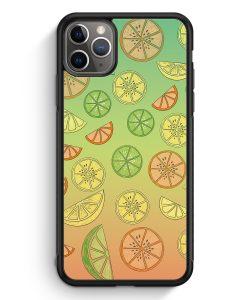 iPhone 11 Pro Max Silikon Hülle - Zitrus Limette Muster
