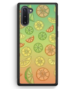 Samsung Galaxy Note 10 Silikon Hülle - Zitrus Limette Muster