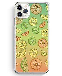 iPhone 11 Pro Hardcase Hülle - Zitrus Limette Muster