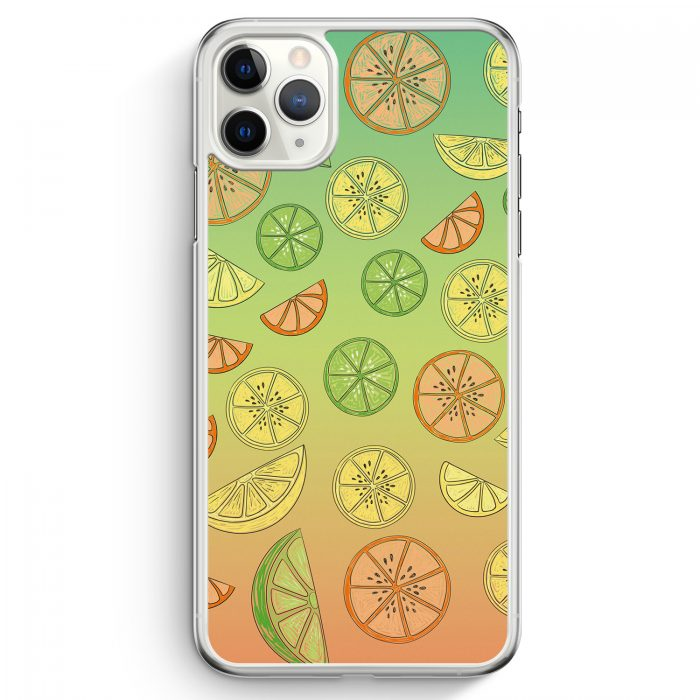 iPhone 11 Pro Max Hardcase Hülle - Zitrus Limette Muster