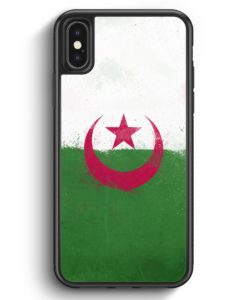 iPhone X & iPhone XS Silikon Hülle - Algerien Algeria Grunge