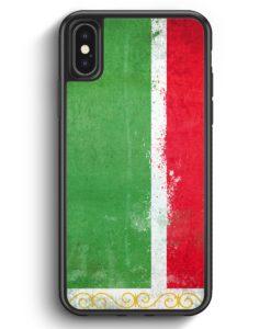 iPhone X & iPhone XS Silikon Hülle - Tschetschenien Grunge Chechen