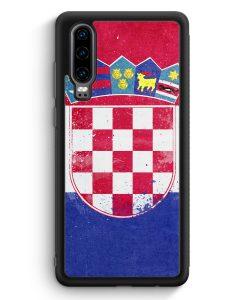 Huawei P30 Silikon Hülle - Kroatien Grunge Hrvastka Croatia