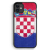 iPhone 11 Silikon Hülle - Kroatien Grunge Hrvastka Croatia