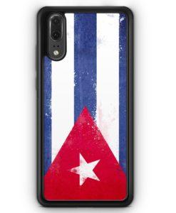 Huawei P20 Hülle Silikon - Kuba Grunge Cuba