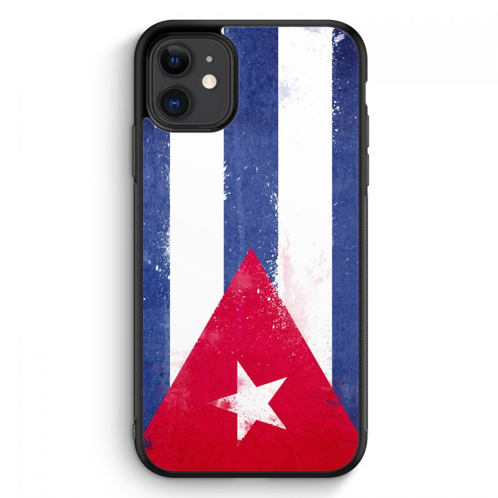 iPhone 11 Silikon Hülle - Kuba Grunge Cuba