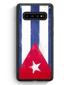 Samsung Galaxy S10e Silikon Hülle - Kuba Grunge Cuba