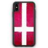 iPhone XS Max Silikon Hülle - Dänemark Grunge Denmark Danmark