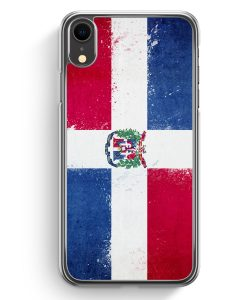 iPhone XR Hardcase Hülle - Dominikanische Republik Grunge Dominican Republic