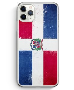 iPhone 11 Pro Max Hardcase Hülle - Dominikanische Republik Grunge Dominican Republic