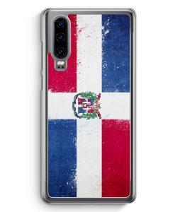 Huawei P30 Hardcase Hülle - Dominikanische Republik Grunge Dominican Republic