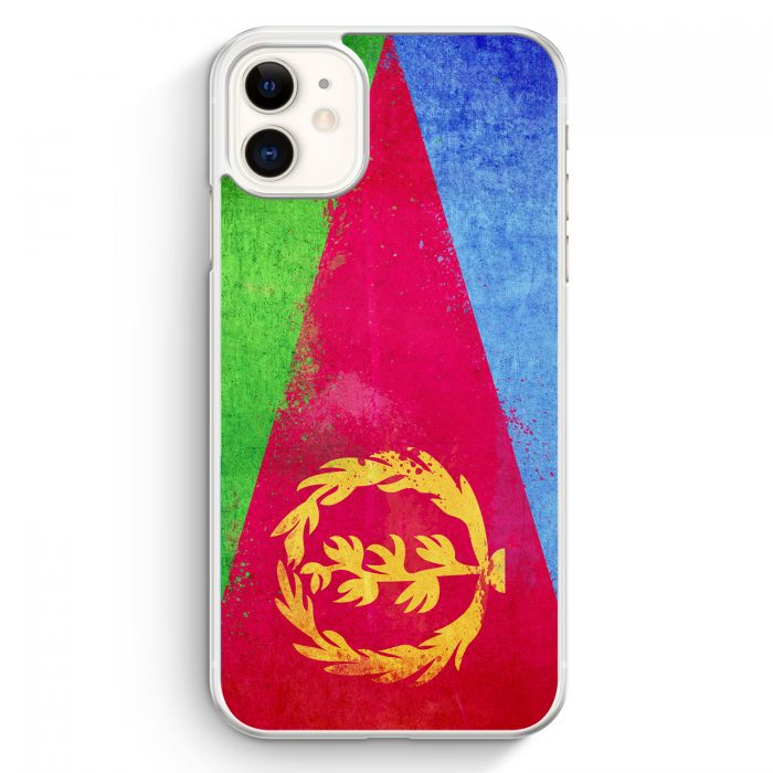 iPhone 11 Hardcase Hülle - Eritrea Grunge